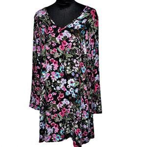 PINK BLUSH Black V-neck Floral Maternity Dress XL